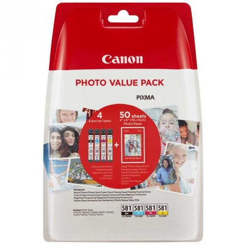 Canon CLI-581 BK/C/M/Y PHOTO VALUE BL