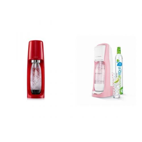 Set (Výrobník sodové vody SodaStream Pastels JET PASTEL RED) + (Výrobník sodové vody SodaStream Spirit Red)
