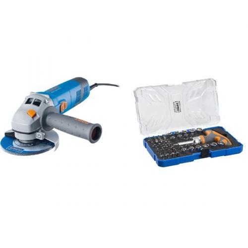 Set (Sada bitů Narex 61-Tool Box) + (Úhlová bruska Narex EBU 125-14 C )