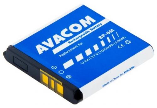 Baterie Avacom pro Nokia 6233, 9300, N73, Li-Ion 3,7V 1070mAh (náhrada BP-6M)