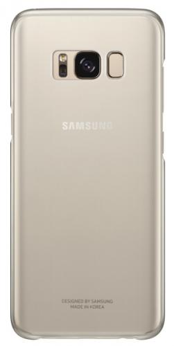 Samsung Clear Cover pro Galaxy S8 (EF-QG950C) zlatý