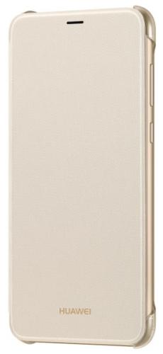 Pouzdro na mobil flipové Huawei Original Folio pro P Smart zlaté