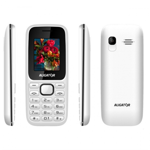 Mobilní telefon Aligator D200 Dual Sim černý/bílý
