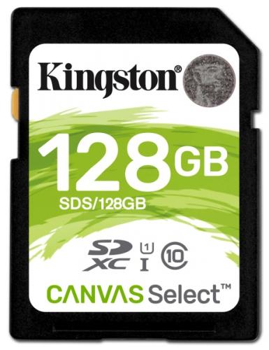 Paměťová karta Kingston Canvas Select SDXC 128GB UHS-I U1 (80R/10W)