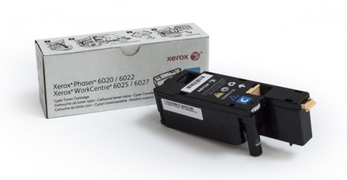 Xerox 106R02761 pro tiskárny Phaser 6020/6022, WorkCentre 6025/6027 1000 str.- cyan