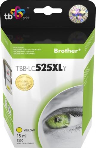 Inkoustová náplň TB LC525XLY pro tiskárny Brother DCP-J100/DCP-J105/MFC-J200 1300 str., kompatibilní žlutá