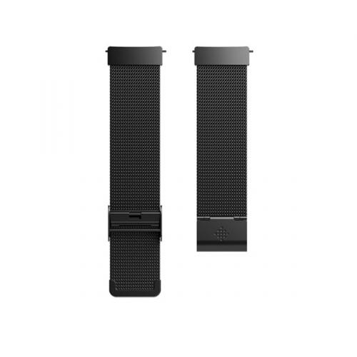 Fitbit pro Versa kovový- Mesh Black Stainless Steel
