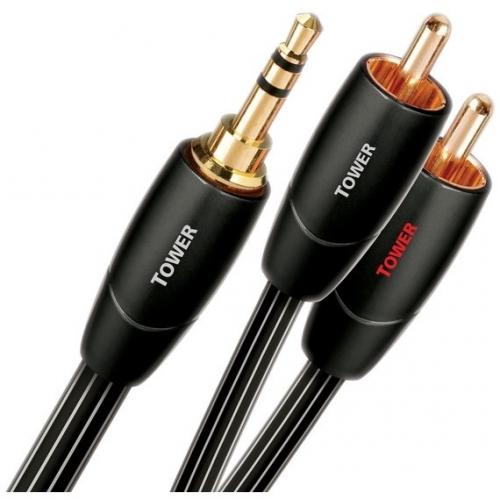 Kabel AQ Tower JR 3,5 mm/2x RCA, 1,5 m černý