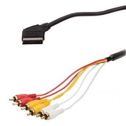 Kabel AQ SCART / 6x CINCH, 1,5 m