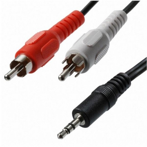 Kabel AQ Audio 3,5 mm na 2x RCA konektor, M/M, 1,2 m