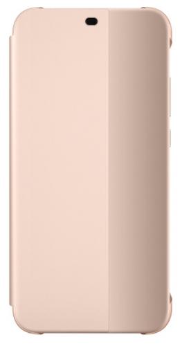 Pouzdro na mobil flipové Huawei Original Folio pro P20 Lite růžové