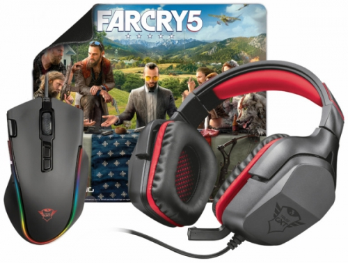 Trust 3v1 (headset, myš, podložka) + Hra Far Cry 5 ZDARMA