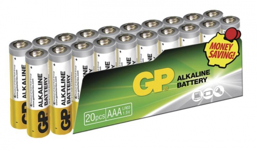 Baterie alkalická GP AAA, LR03, fólie 20ks