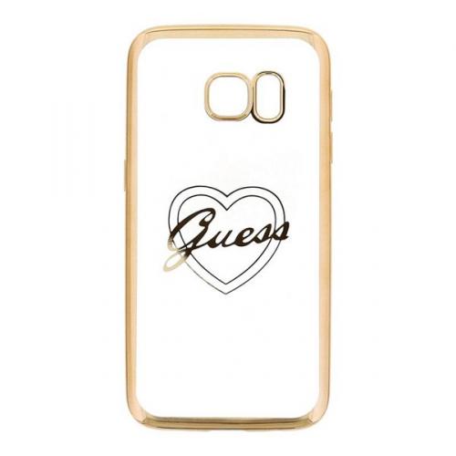 Guess Heart pro Samsung Galaxy S7 zlatý