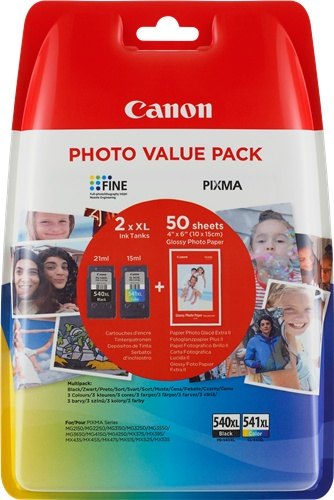 Canon PG-540XL/CL-541XL PHOTO VALUE Pack, 1000 stran, CMYK