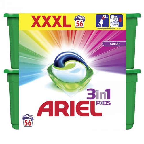 Kapsle na praní Ariel Color 56 ks