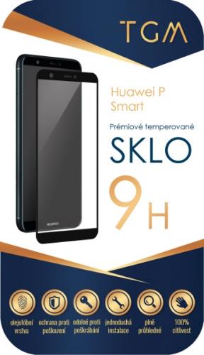 Ochranné sklo TGM Full Cover pro Huawei P Smart černé