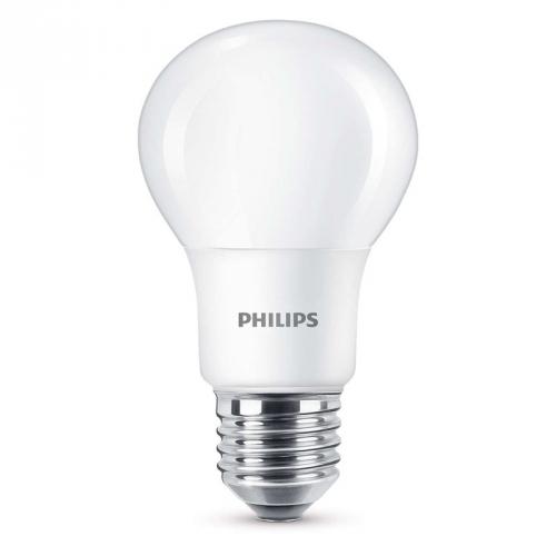 Philips klasik, 8W, E27, teplá bílá
