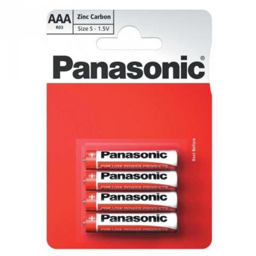 Baterie zinkouhlíková Panasonic AAA, R03, blistr 4ks