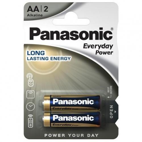 Baterie alkalická Panasonic Everyday Power AA, LR06, blistr 2ks