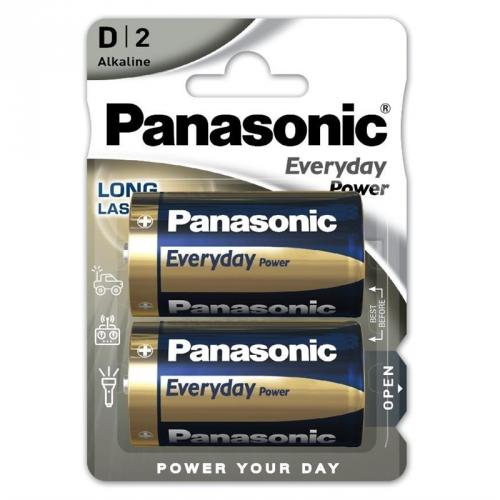 Baterie alkalická Panasonic Standard Power D, LR20, blistr 2ks