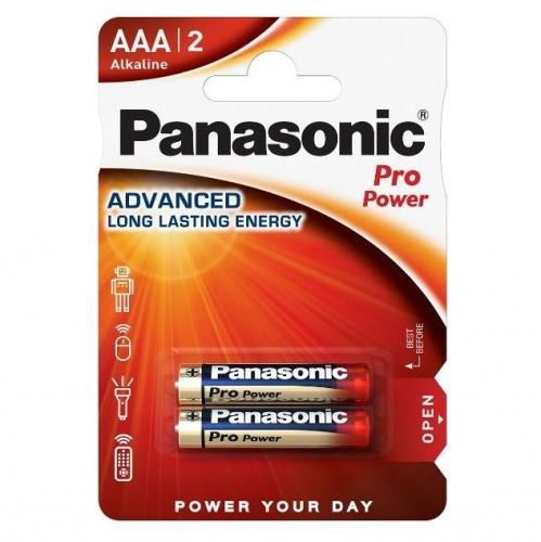 Baterie alkalická Panasonic Pro Power AAA, LR03, blistr 2ks