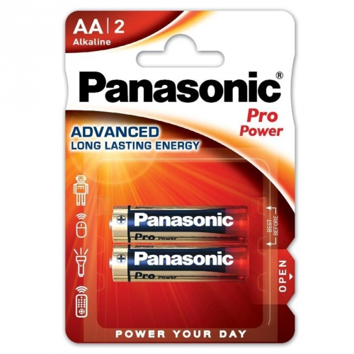 Baterie alkalická Panasonic Pro Power AA, LR06, blistr 2ks