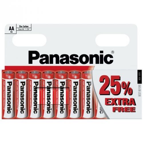 Baterie zinkochloridová Panasonic AA, R06, blistr 10ks