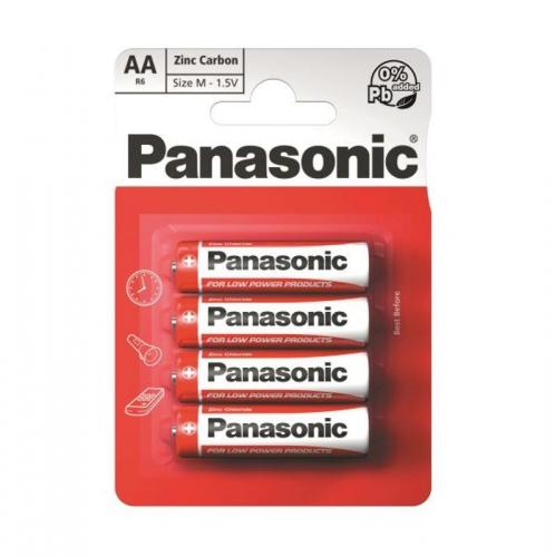 Baterie zinkouhlíková Panasonic AA, R06, blistr 4ks