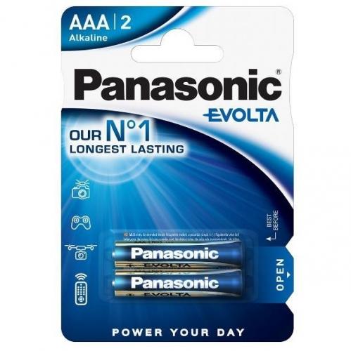 Baterie alkalická Panasonic Evolta AAA, LR03, blistr 2ks