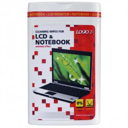 Logo Trhací ubrousky, na notebooky, LCD, dóza, 50 ks