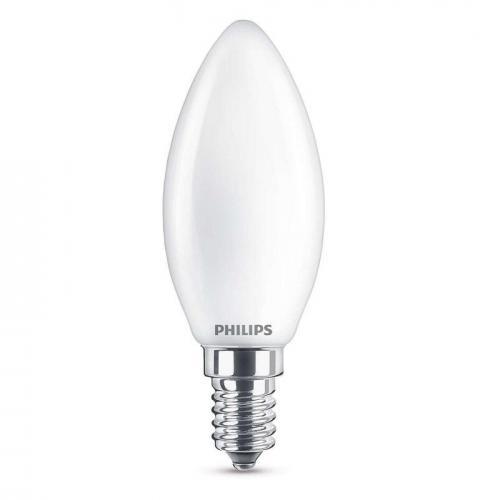 Philips svíčka, 4,3W, E14, teplá bílá