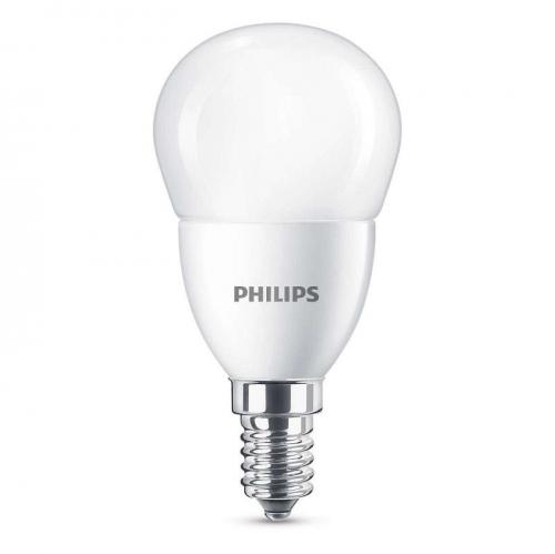 Philips klasik, 7W, E14, teplá bílá