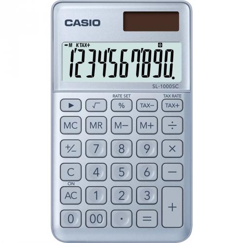 Kalkulačka Casio SL 1000 SC BU - světle modrá (452009)