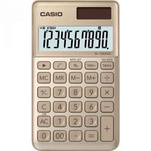 Kalkulačka Casio SL 1000 SC GD (452010) zlatá