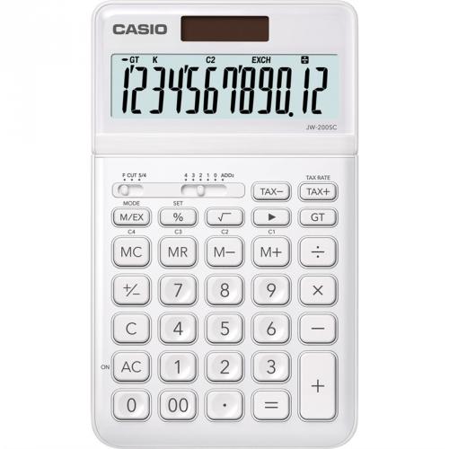 Kalkulačka Casio JW 200SC WE (452021) bílá