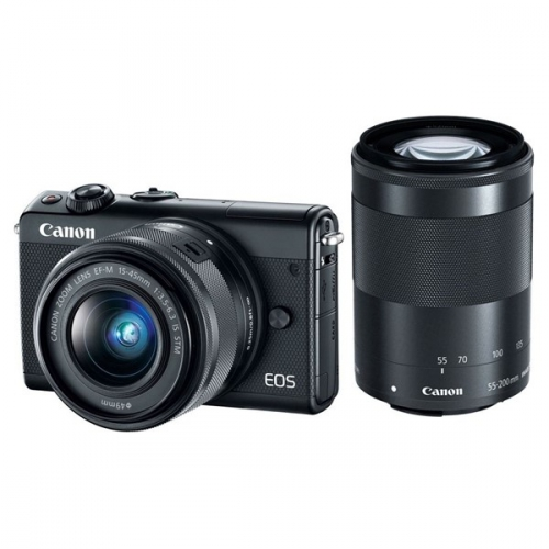 Canon M100 + EF-M 15-45mm IS STM + EF-M 55-200mm IS STM