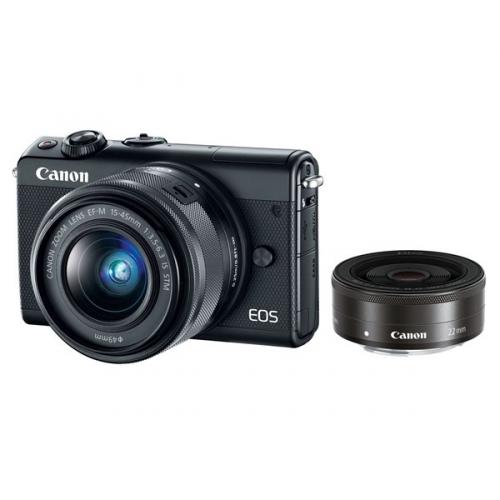 Canon M100 + EF-M 15-45mm IS STM + EF-M 22mm STM