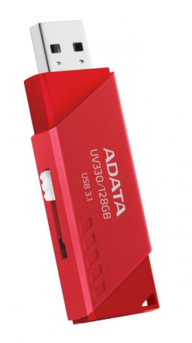 Fotografie A-Data ADATA Flash Disk 128GB USB 3.1 Dash Drive UV330, Red (AUV330-128G-RRD)