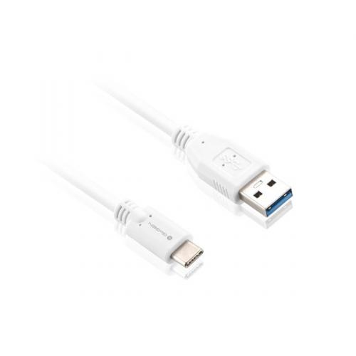 Kabel GoGEN USB/USB-C, 1m bílý