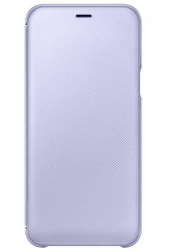 Pouzdro na mobil flipové Samsung Wallet Cover pro Galaxy A6 - levandulová