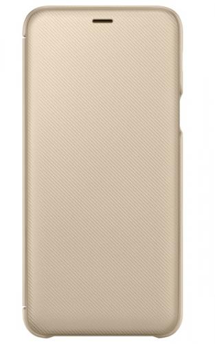Pouzdro na mobil flipové Samsung Wallet Cover pro Galaxy A6+ zlaté