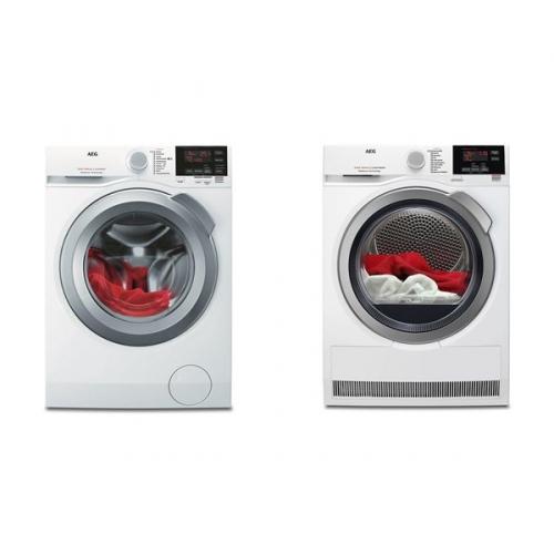Set (Sušička prádla AEG ProSense™ T6DBG28SC) + (Automatická pračka AEG ProSense™ L6FBG68SC)