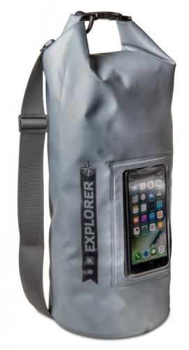 """Fotografie Celly voděodolný vak Explorer 10L s kapsou na telefon do 6,2"""" - šedý"""