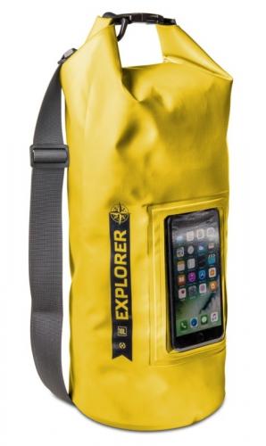 """Fotografie Celly voděodolný vak Explorer 10L s kapsou na telefon do 6,2"""" - žlutý"""