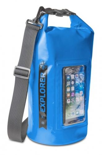 """Fotografie Celly voděodolný vak Explorer 5L s kapsou na telefon do 6,2"""" - modrý"""