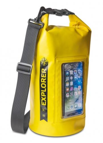 """Celly voděodolný vak Explorer 5L s kapsou na telefon do 6,2"""" - žlutý"""