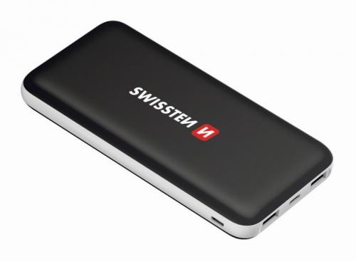 Powerbank Swissten Black Core Slim 15000mAH, USB-C černá