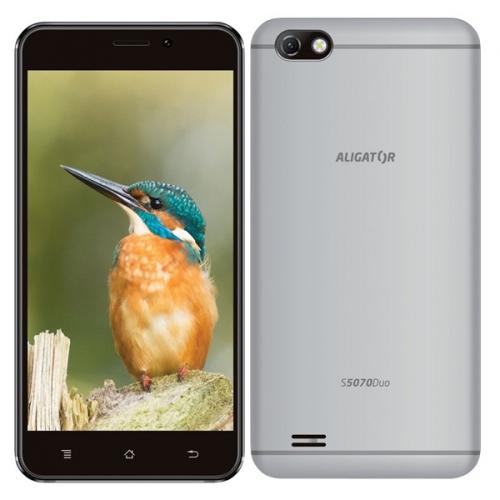 Mobilní telefon Aligator S5070 Dual SIM stříbrný + dárky