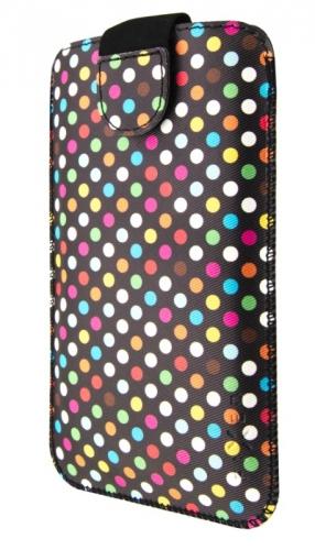 Pouzdro na mobil FIXED Soft Slim, 6XL - Rainbow Dots